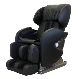 Electric Full Body Shiatsu Black Massage Chair Recliner Stretched Foot Rest